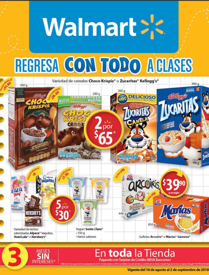 Walmart: Folleto de Ofertas del 16 de Agosto al 02 de Septiembre