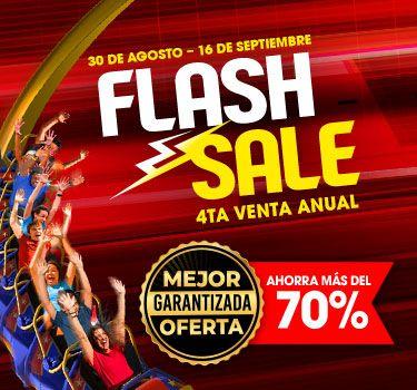 Six Flags: Flash Sale 2019. Hasta 16 de Septiembre. Ahorra 70% en Pases Anuales Gold