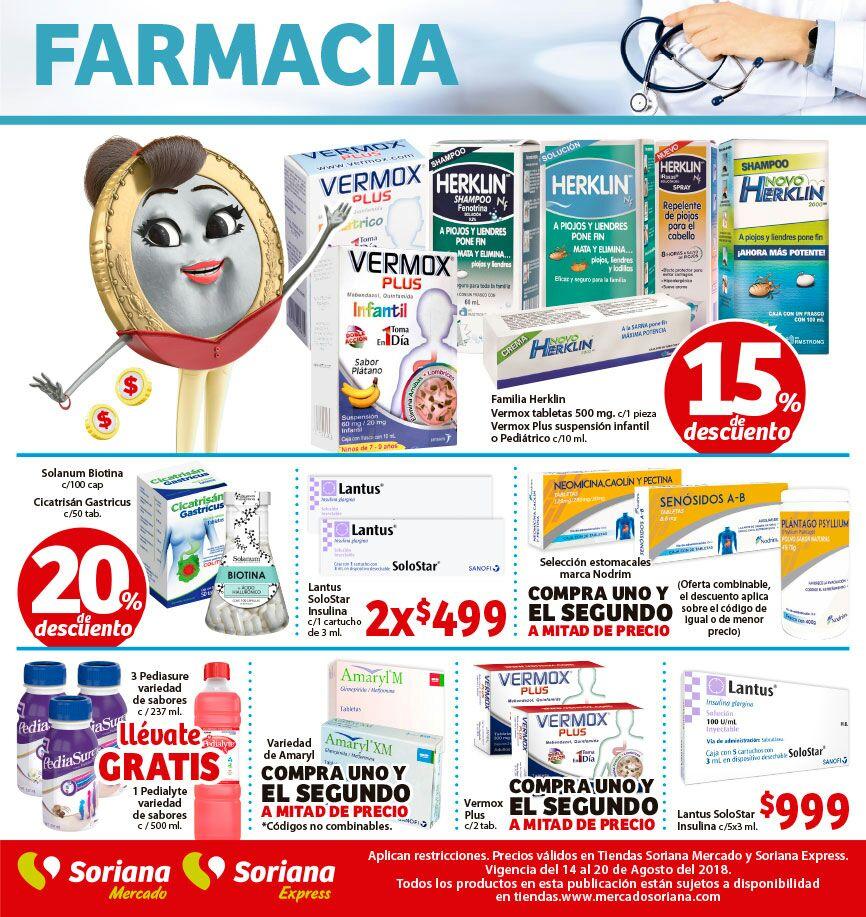 Soriana Mercado y Express: Ofertas en Farmacia del 14 al 20 de Agosto