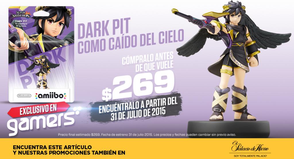 "Gamers: Amiibo Dark Pit ""Exclusivo"" 31 de Julio"