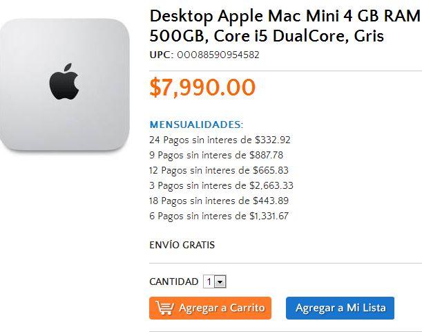 Walmart: Mac Mini $7,990 o $7,191