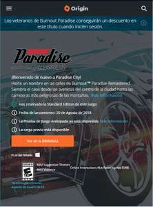 Origin: Burnout™ Paradise Remastered