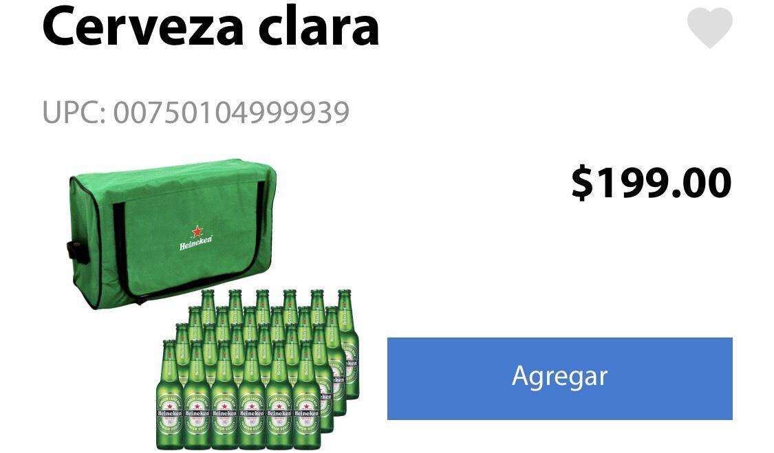 Walmart Súper:   24 Heineken de 355 ml + Hielera