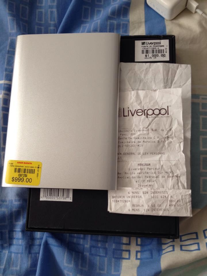 Liverpool: Powerbank 20000 MAH Descuento sobre rebaja 50%
