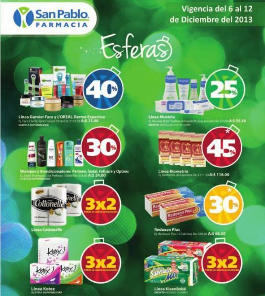 Farmacia San Pablo: 3x2 en KleenBebé y Kotex, 40% menos en L'Oréal y más