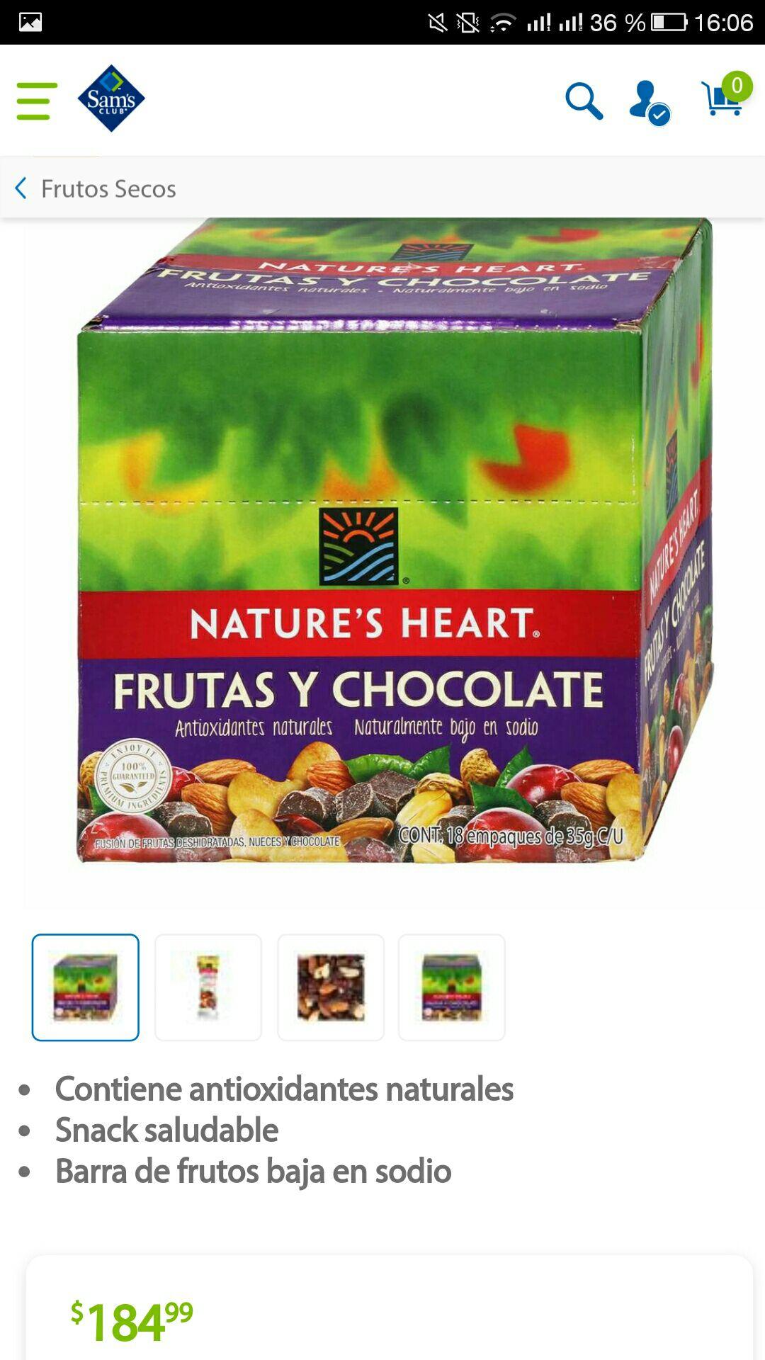 Sam's club online: snack saludable natures hearth 2x1 36 bolsitas ($5 por bolsa)