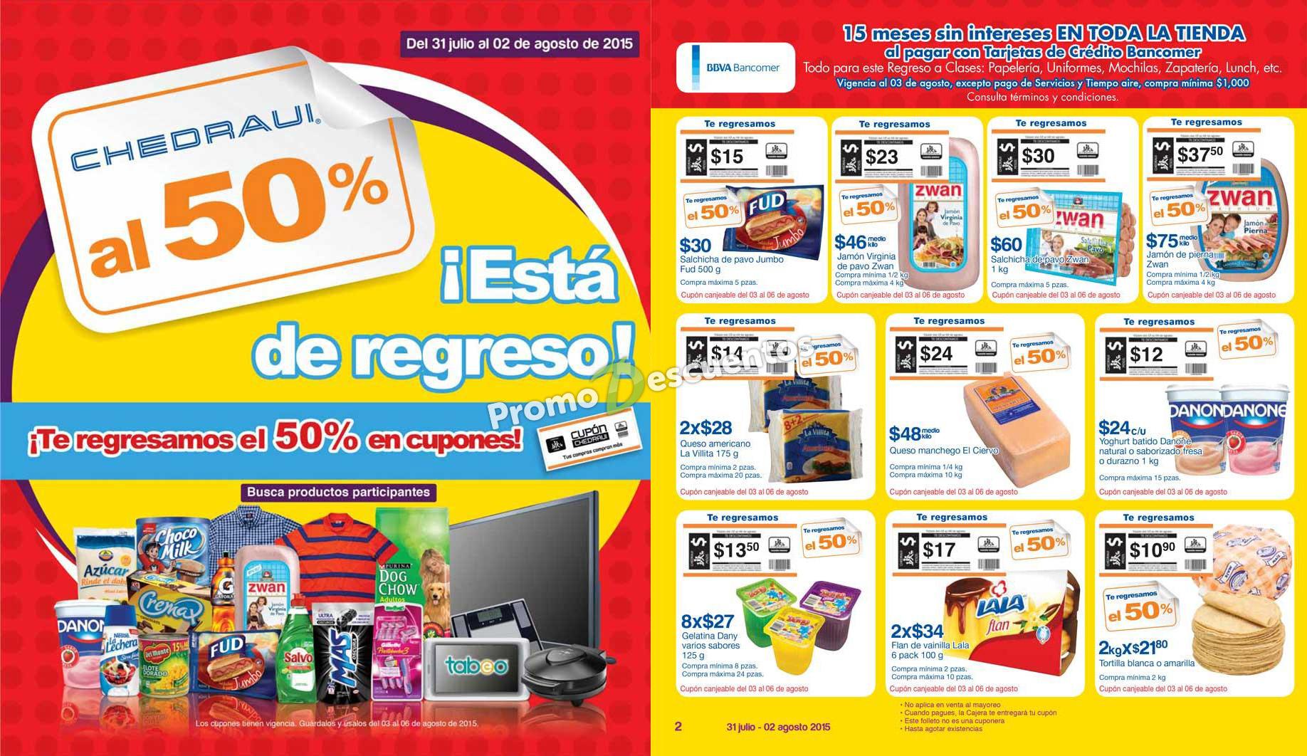 Chedraui: artículos con 50% de bonificación del 31 de julio al 2 de agosto