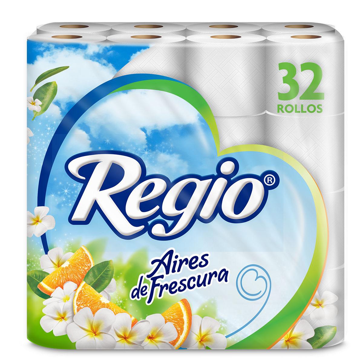 Chedraui en linea: Regio Aires De Frescura 32 Piezas ( Para los que no alcanzaron a comprar en amazon) 200 hojas dobles 2.8$ c/u