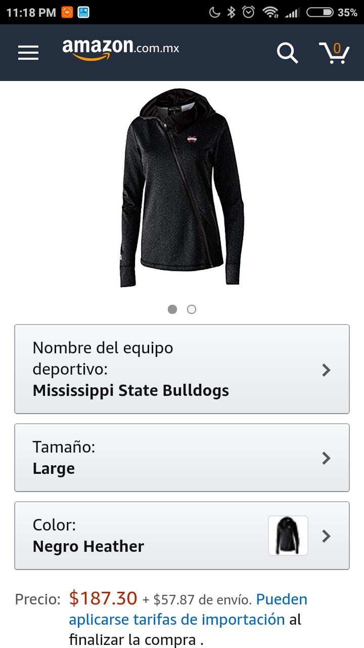 Amazon: Chamarra Mujer para ejercicio talla Grande (incluye envio)
