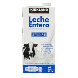 Costco: 12 Litros de leche Kirkland Signature (entera, light o deslactosada)