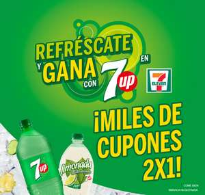 7 Eleven: Cupón 2x1 en Seven Up de 600ml