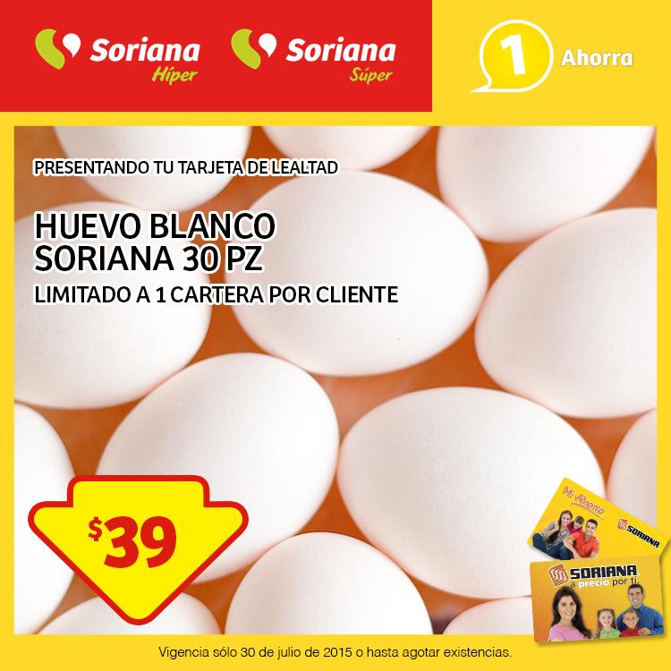 SORIANA cartera 30 huevos