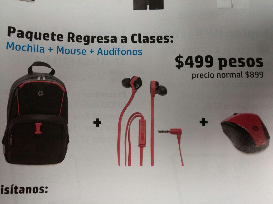 Tienda HP: Mochila HP + Audifonos + mouse inalambrico