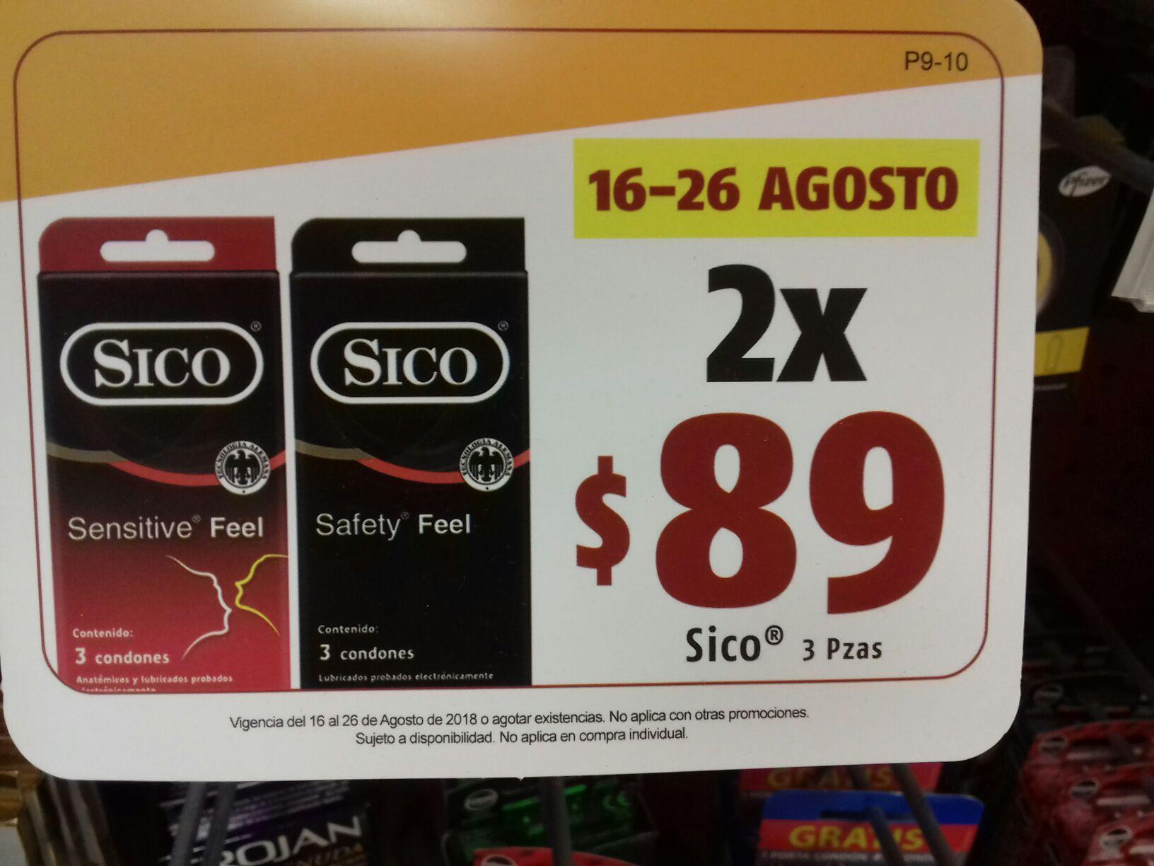 Oxxo  condones sico 3pz. 16-26 agosto