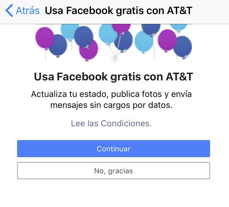 AT&T: FaceBook gratis con ATT