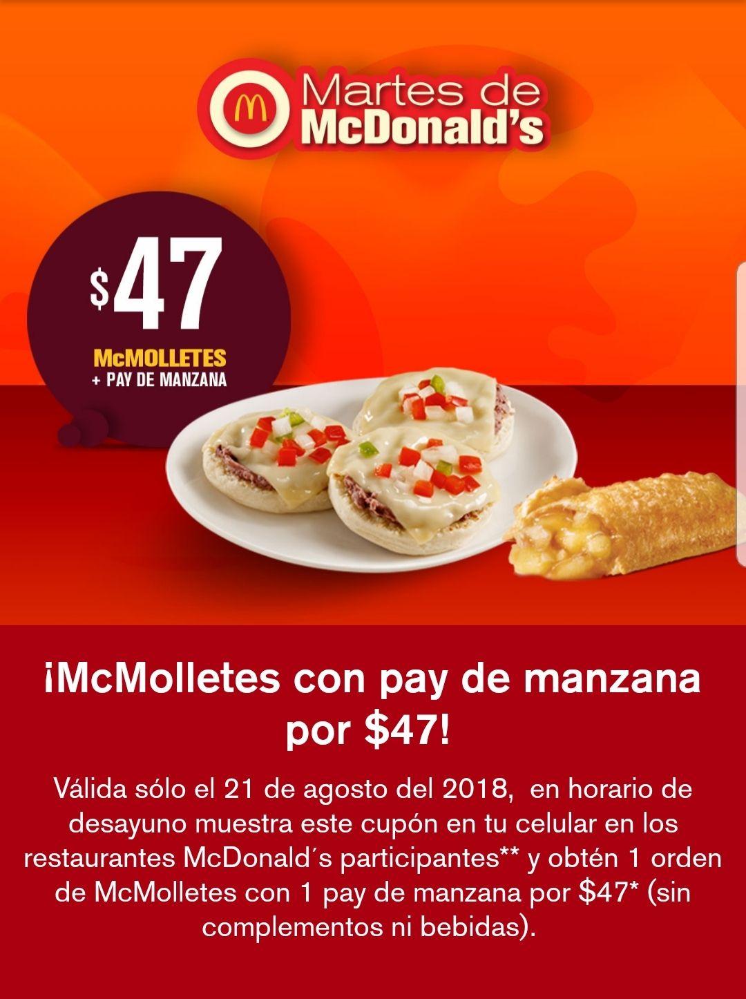 McDonald's: McMolletes con pay de manzana