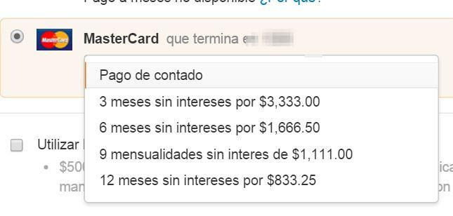 Amazon: 12 meses sin intereses