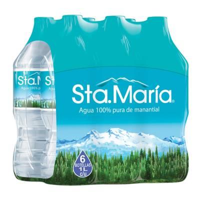Walmart: Agua Santa Maria 6 pack de 1L C/U a $19.90