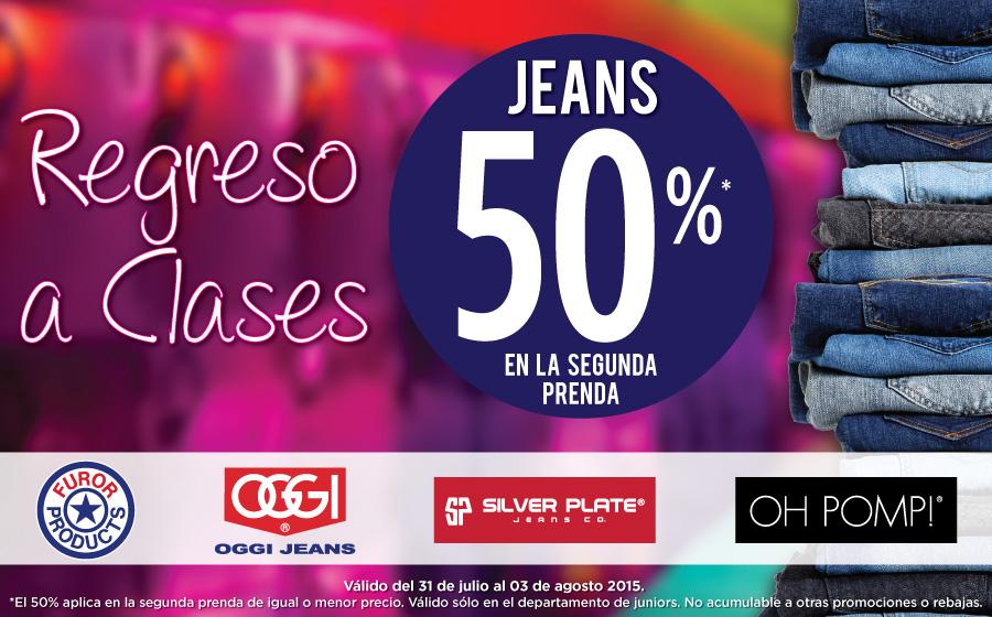 Suburbia promoción regreso a clases: 2x1 y medio en jeans depto juniors