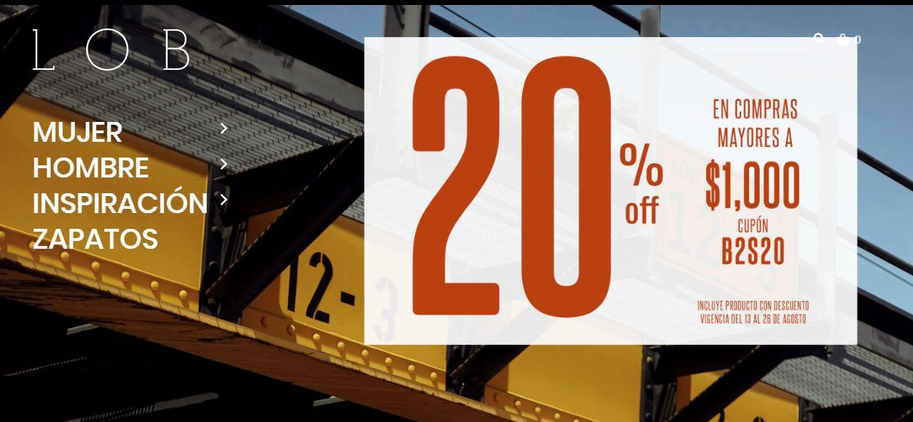 LOB: Descuento de 20% (tienda en línea)