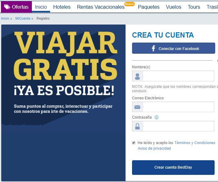 BestDay: $700 pesos en puntos por registrarte en su página