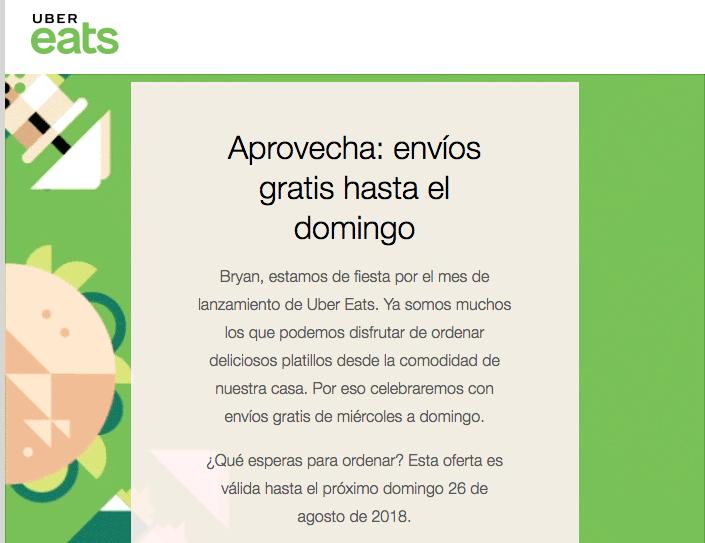 Uber Eats: Envíos gratis en Veracruz hasta el domingo