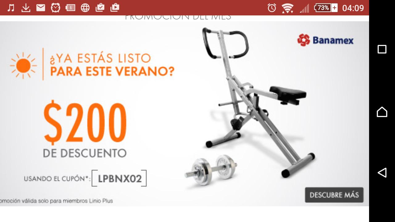 LINIO: $200 de descuento en artículos seleccionados con Linio Plus