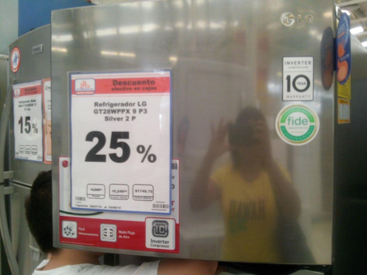 Chedraui: Refrigerador LG INVERTER GT28WPPX a $5,249.25