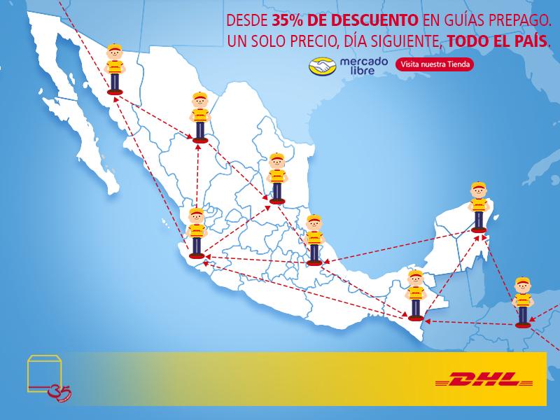 DHL: Desde 35% de descuento en guias prepago.