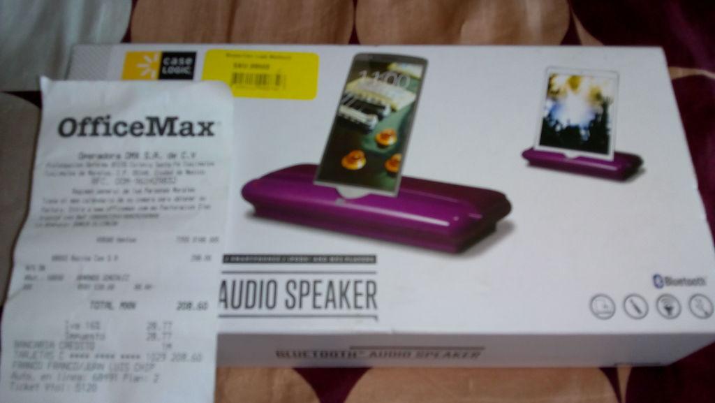 OfficeMax: Bocina Bluetooth a $208