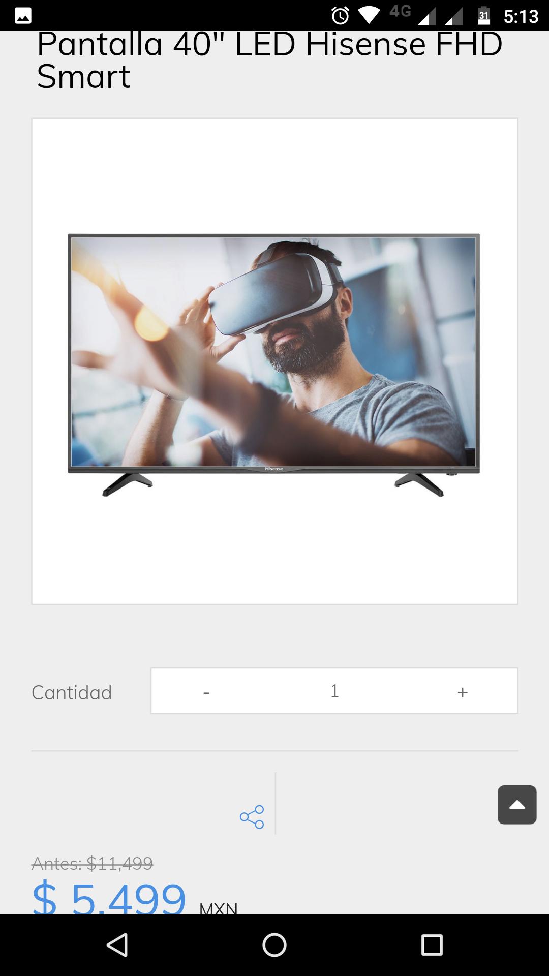Sanborns TV Hisense Smart 40 pulgadas