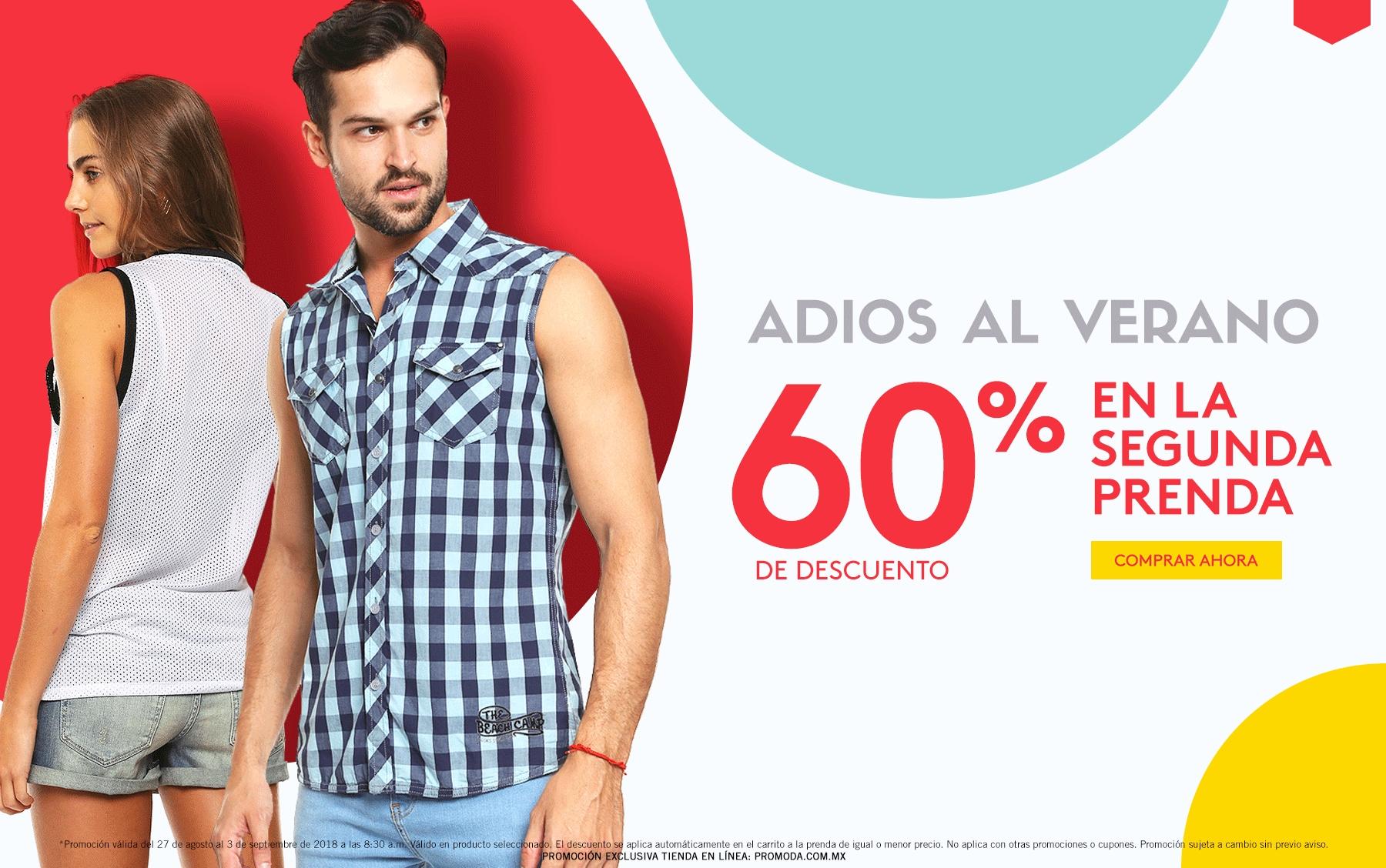 Promoda Online: Adiós al Verano: 60% de descuento en la segunda prenda