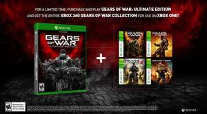Colección Gears of War gratis comprando Gears of War Ultimate Edition