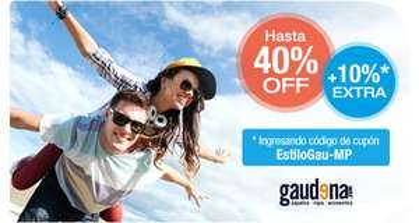 Gaudena.com 40%+10% adicional pagando con MercadoPago