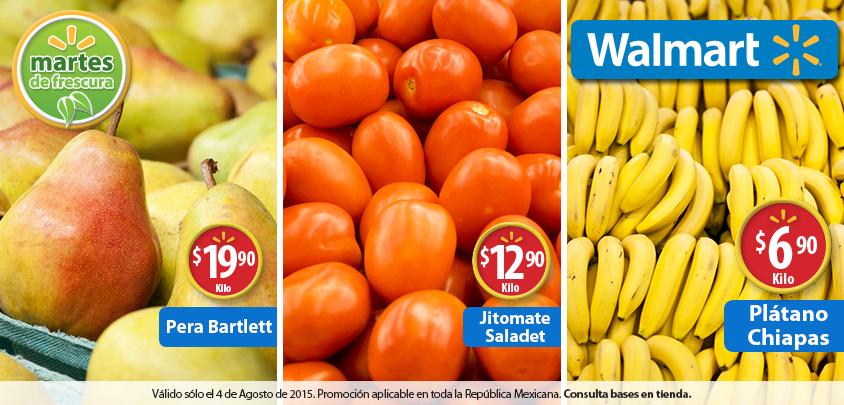 Walmart: Martes de Frescura 4 de agosto