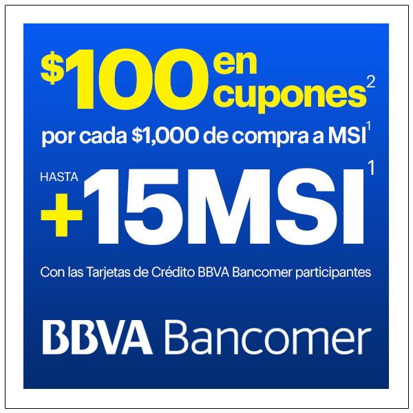Best Buy: $100 en cupones por cada $1,000 de compra SOLO con Bancomer a MSI