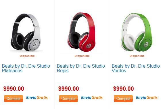 Walmart: audífonos Beats by Dr Dre $990 (4 colores)