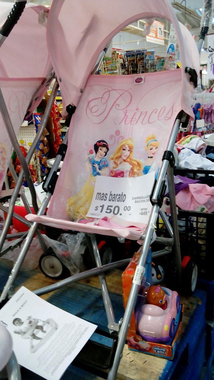 Soriana Mercado: carreola de bastón Disney a $150