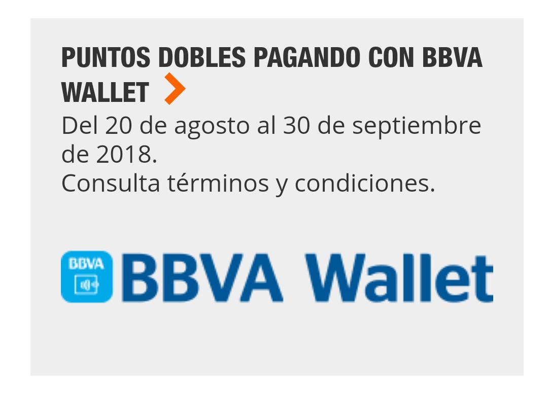 Home Depot: Puntos Dobles BBVA Wallet