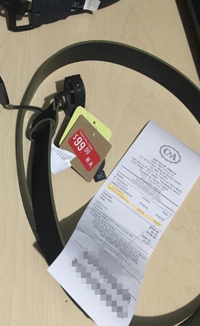 C&A: Cinturón para caballero tallas variadas $49