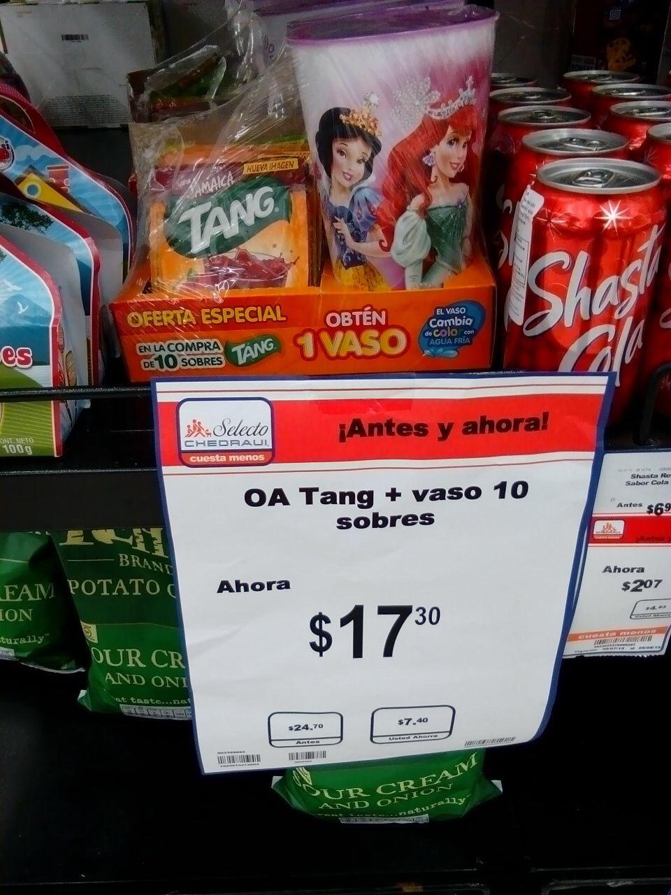 Chedraui: 10 sobres de tang + vaso gratis a $17.30