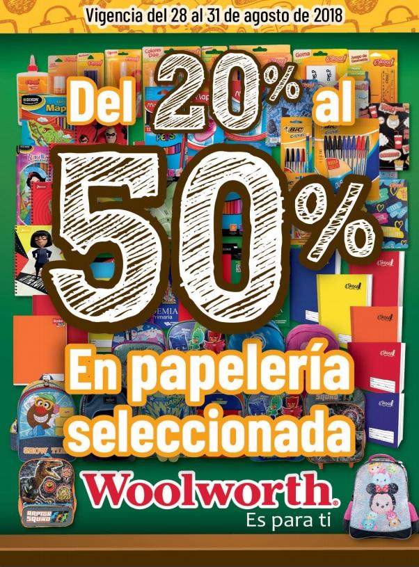Woolworth: Descuentos del 20% al 50% en papelería seleccionada