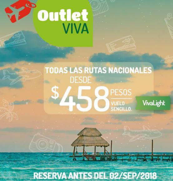 VIVAAEROBUS: Outlet viaje sencillo $458 vuelos SEPT-NOV 2018 (reserva antes del 2 Sep)