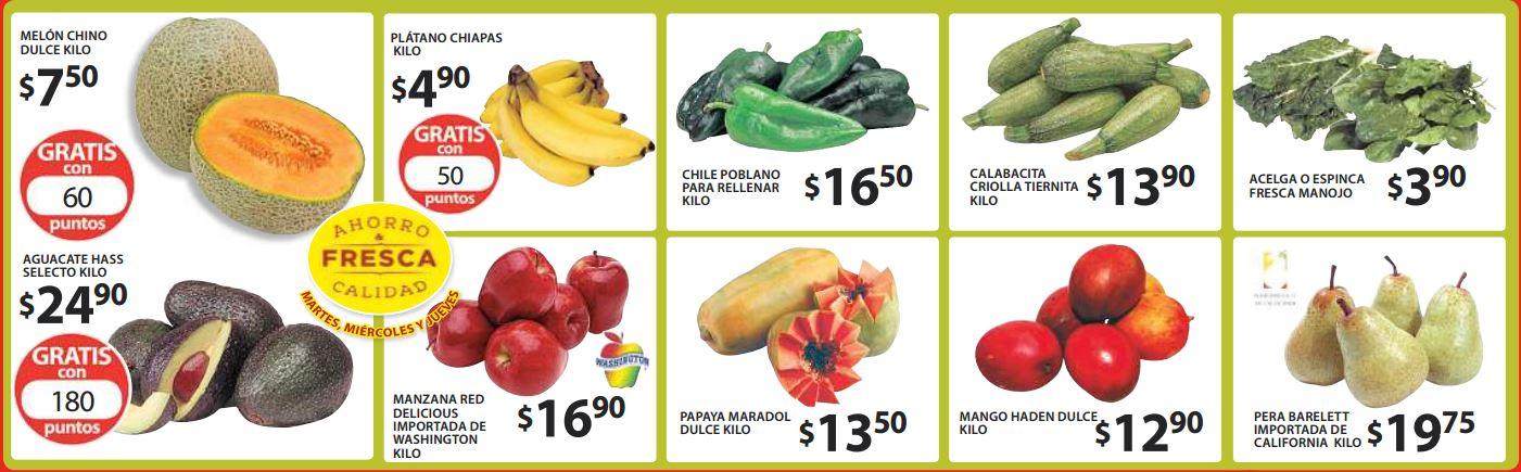 Ofertas de frutas y verduras en Soriana agosto 4