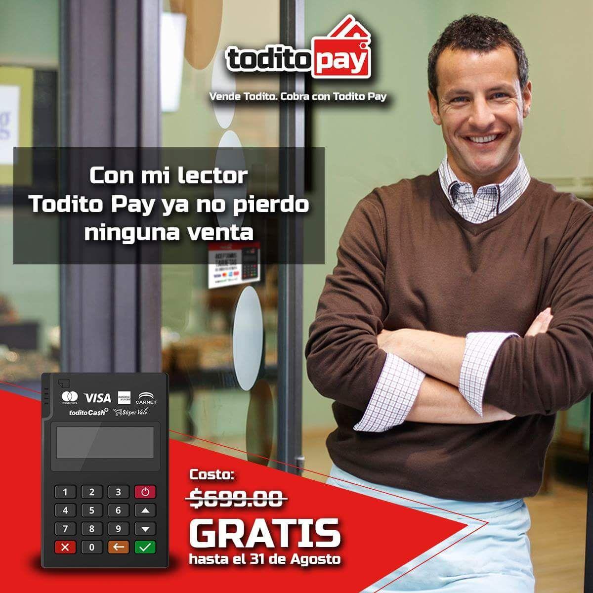 Todito Pay: lector gratis solo registrándose