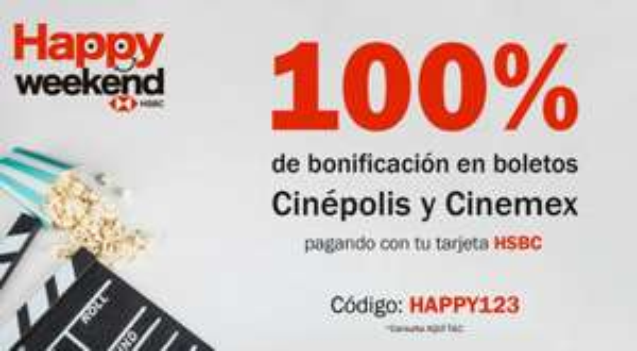 UndosTres: BONIFICAN EL 100% EN CINEPOLIS Y CINEMEX, PAGANDO CON TU TARJETAHSBC.