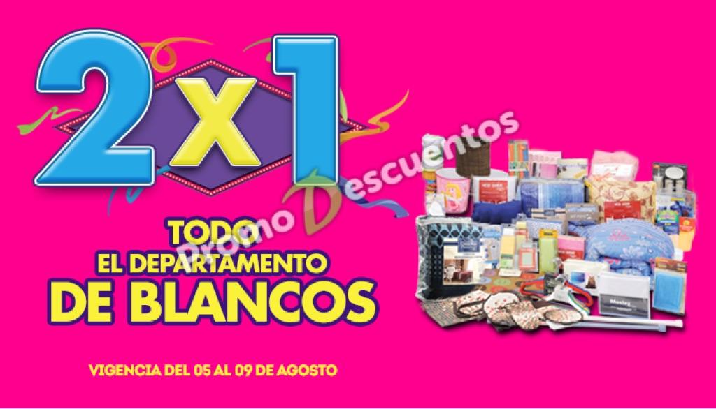 Ofertas de Julio Regalado 2015 en La Comer: 2x1 en todo el departamento de blancos