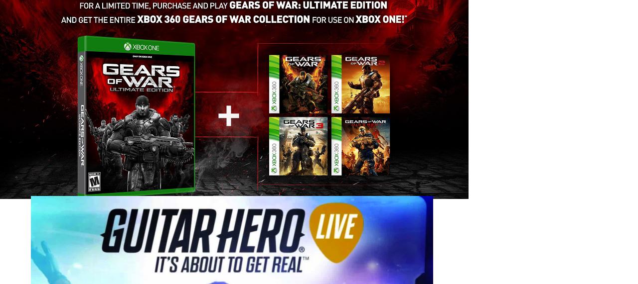 Fabricas Francia y Liverpool: (Preventa) Gears of War Ultimate $639.00 y Guitar hero Live $1,599.00