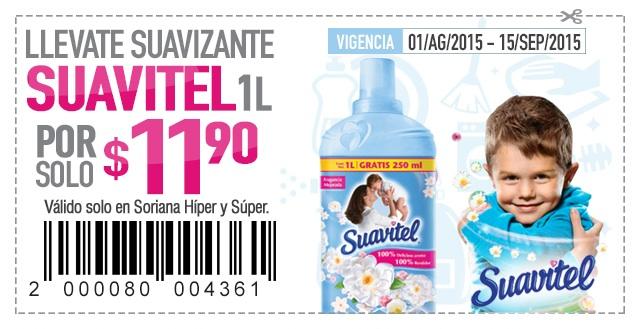 Soriana: Suavitel de 1 Litro a $11.90 con cupón