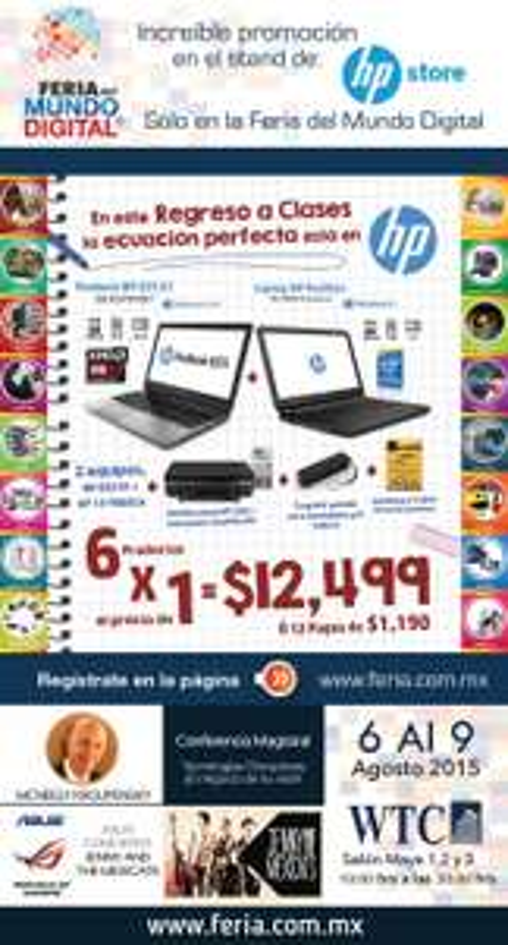 Feria del Mundo Digital: Paquete HP (6 artículos)